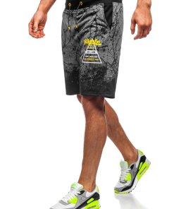 Pantaloni scurți trening grafit Bolf KK300162
