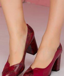 Pantofi visinii cu imprimeu stone
