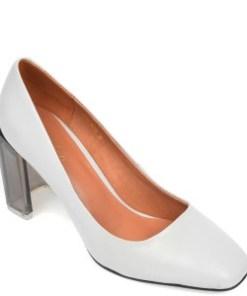 Pantofi EPICA gri, 2033B87, din piele naturala