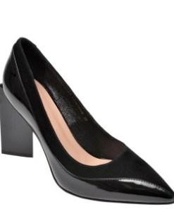 Pantofi EPICA negri, G431R54, din piele naturala lacuita
