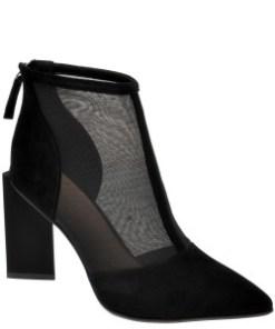 Pantofi EPICA negri, P604094, din material textil si piele intoarsa