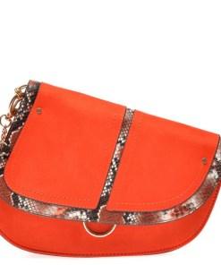 Poseta CALL IT SPRING portocalie, PHOE840, din piele ecologica