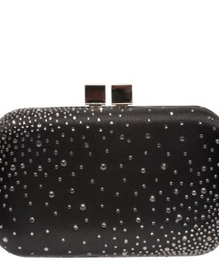 Poseta plic EPICA neagra, TBF9534, din material textil