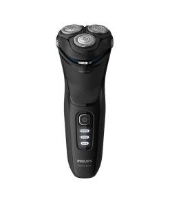 Aparat de barbierit electric Seria3000 /52 - Umed/uscat - Lame PowerCut B - capete 5D Flex - 60+ min autonomie / 1h incarcare - 3 LED - Cap tuns precizie - Baterie NiMH - Husa transport - Negru