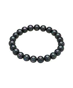 Bratara cu perle organice neagra