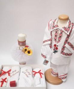 Set Traditional Botez Costumas baietel Trusou Lumanare 2