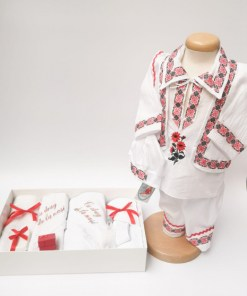 Set Traditional Botez Costumas baiat Trusou baiat
