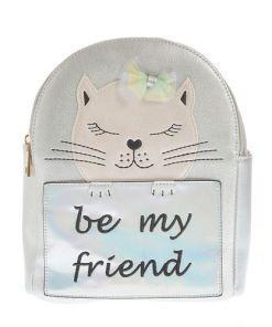 Rucsac argintiu cu mesaj - Rucsac argintiu, Be my friend