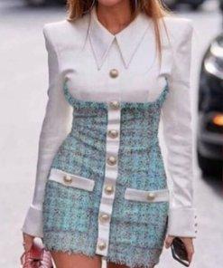 Rochie Mini Eleganta Nyasia Albastra