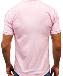 Tricou polo bărbat roz Bolf 171221