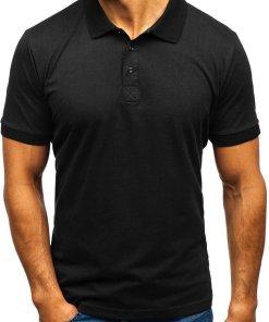 Tricou polo bărbat negru Bolf 171221