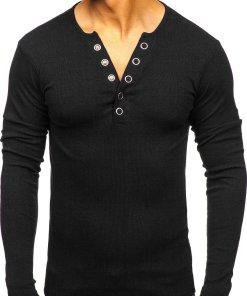 Bluză bărbați neagră Bolf 145362