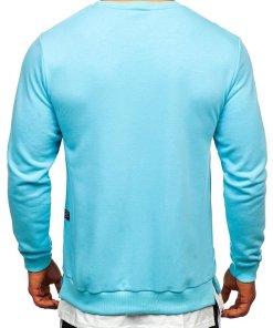 Bluză cu imprimeu bărbați albastru Bolf 11114