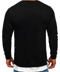 Bluză cu imprimeu bărbați negru Bolf 11114