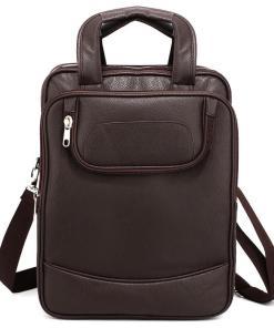 Rucsac laptop barbati convertibil in geanta Brandon Cafeniu