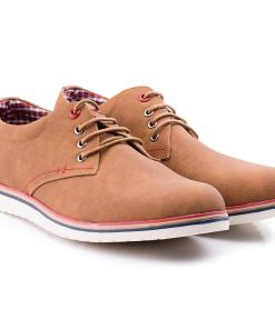Pantofi barbati Clayton cu talpa interioara din piele naturala Maro
