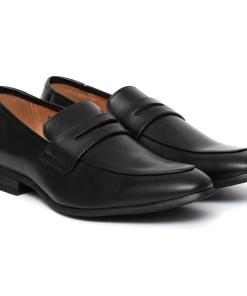 Pantofi barbati Ervin cu varf rotunjit fara siret Negru