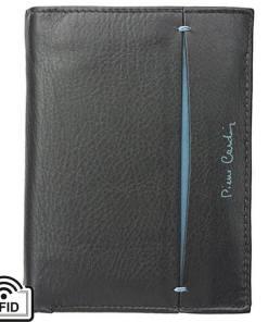 Portofel barbati din piele naturala Pierre Cardin GPB378 - cu Protectie RFID Negru-Albastru