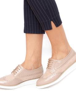Pantofi dama Moe cu siret Bej