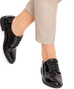 Pantofi dama Myle cu siret Negru