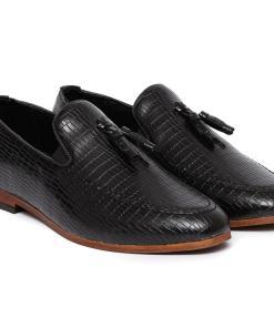Pantofi barbati Todd cu imprimeu piele de sarpe Negru