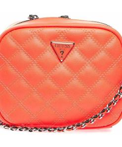 GUESS Quilted crossbody bag Red