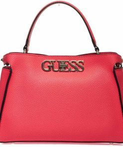 GUESS Crossbody bag with logo Pink