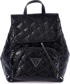 GUESS Small lacquered backpack Black