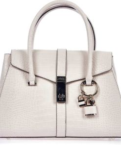 GUESS Hand bag with reptile finish Rose