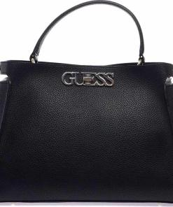 """GUESS Crossbody bag with logo """"Uptown chic"""" Black"""