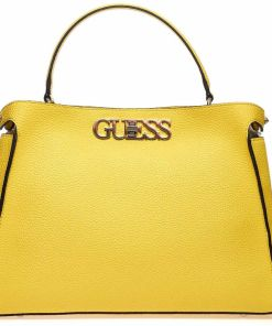 """GUESS Crossbody bag with logo """"Uptown chic"""" Yellow"""