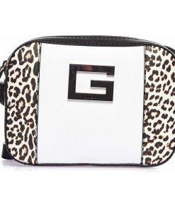 "GUESS Crossbody bag with animal print ""Kamryn"" White"