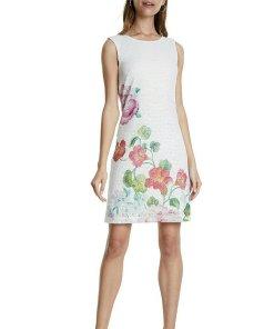 Rochie din dantela cu model floral 2621360