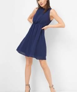 Rochie cu dantelă Albastru