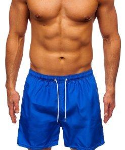 Pantaloni scurți de baie albastru Bolf ST019