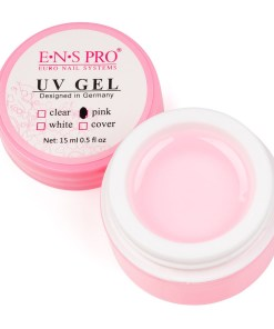 Gel Constructie Unghii UV ENS PRO 15 ml Pink - Roz Transparent