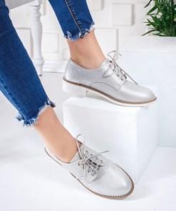 Pantofi casual dama argintii Minasi