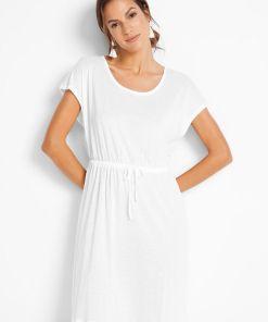 Rochie de plajă, material durabil - alb