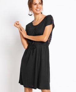 Rochie de plajă, material durabil - negru