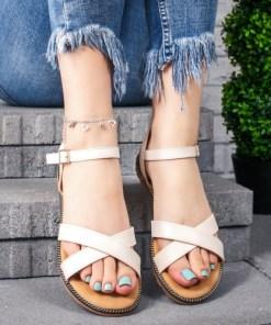 Sandale dama cu talpa joasa bej Retema