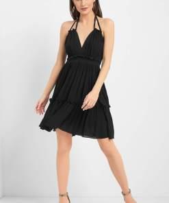 Rochie din viscoză Negru