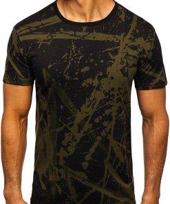 Tricou cu imprimeu barbati verde Bolf 100788-1