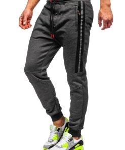 Pantaloni de trening negri Bolf TC952