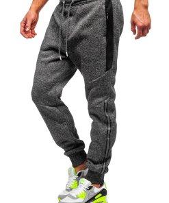 Pantaloni de trening negri Bolf TC984