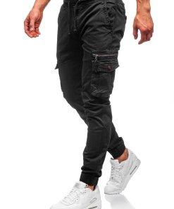 Pantaloni cargo negri barbati Bolf CT6702