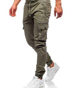 Pantaloni cargo verde-deschis barbati Bolf CT6702