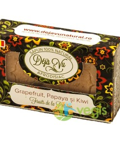 Sapun Natural Cu Grapefruit, Kiwi Si Papaya 90gr