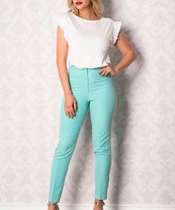 Pantaloni Effect office turquoise
