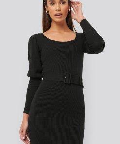 Rochie cambrata din tricot - cu o curea 2608801