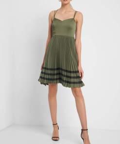 Rochie plisată Verde